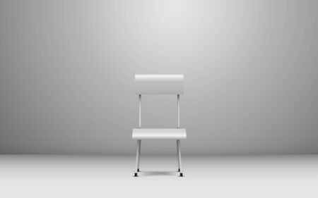 white chair in the white studio room