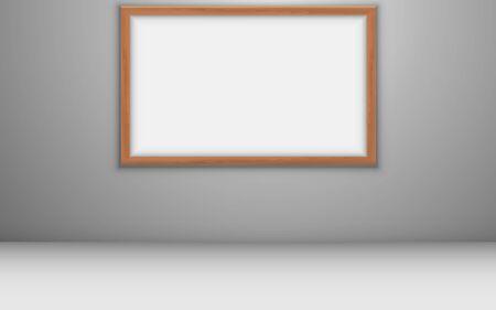 white board in the white studio room 向量圖像
