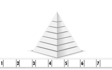 white pyramid infographic template for business 向量圖像
