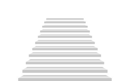 białe schody w białym pokoju Ilustracje wektorowe