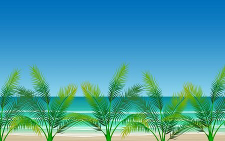 landscape of coconut tree on the beach in day time