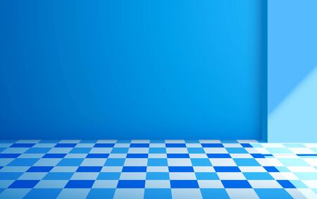 colorful tile floor in the blue room Stock fotó - 134017242