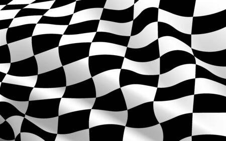 schwarz-weiß karierte Flagge Textur Hintergrund Vektorgrafik