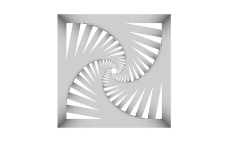 white square tunnel texture background