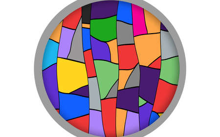 colorful circle window on the the white background  イラスト・ベクター素材