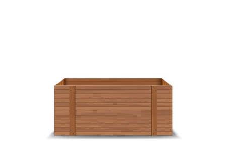 wooden product box on the white background  イラスト・ベクター素材