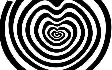 black and white heart spiral texture background