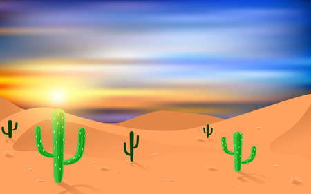 landscape of desert in the morning
