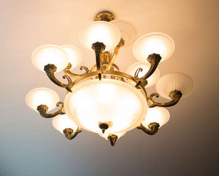 cutglass: Home interiors Chandelier on ceiling