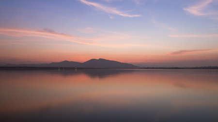 twilight time on the lake photo