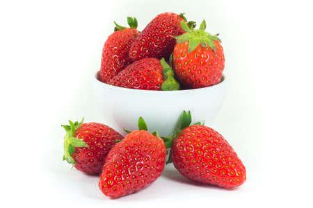 Strawberries isolated on white background (fruit) photo
