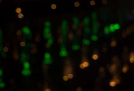 city light: Lights out of focus lens blur lights city light