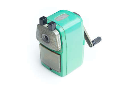 pencil sharpener: Sharpener of pencil isolated on white