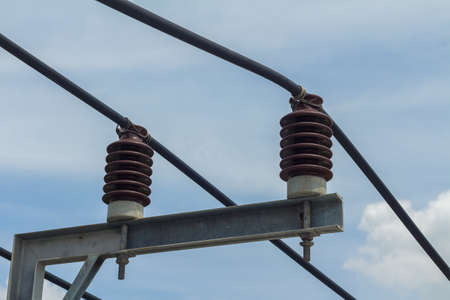 isolator insulator: Connected Devices or switches - Components of the insulator Stock Photo