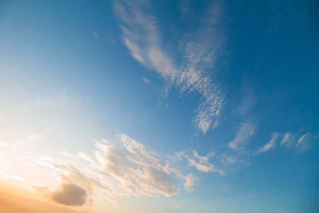 to seem: twilight sky in good weather day that the clouds seem like a hawk