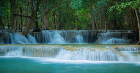 kamin: Waterfall in the deep forest at Huay Mae Kamin waterfall National Park, Thailand Stock Photo