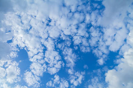 good weather: blue sky and clouds in good weather days