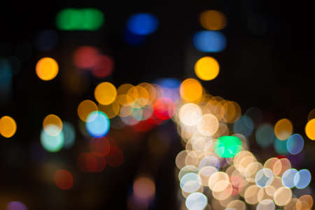 scenic drive: Blur image of car light and traffic in the city for abstract background