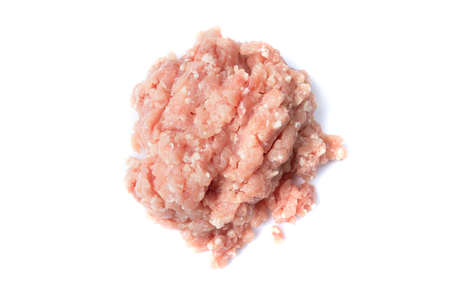 picture of fresh Ground Pork Meat for cooking isolated  on white background