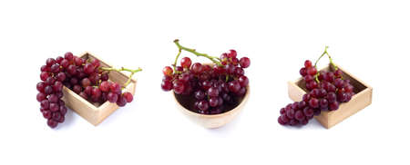 picture of Red grape isolated on the white background Zdjęcie Seryjne