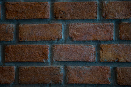Picture of red brick wall texture background for interior or exterior decoration of loft design