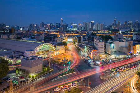 Bangkok Thailand - April 7 2019 : Bangkok central train station (Hua Lamphong Railway Station). This is the main railway station in Bangkok Editorial