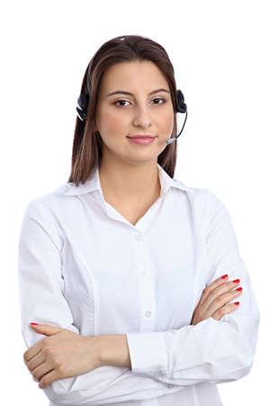 call center representative: Support  phone operator in headset