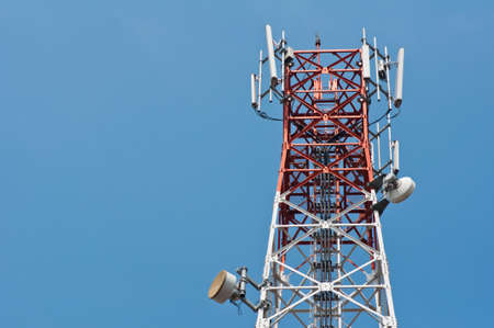 telco: Antenna with the blue sky