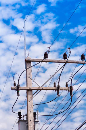 insulator: insulator electric and blue sky