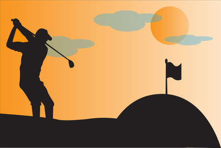 Golfer Silhouettes  photo
