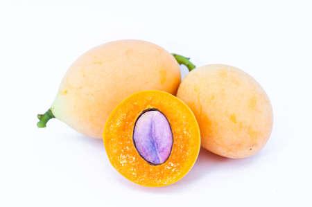 Marian plum or maprang  thai fruit  isolated on white background
