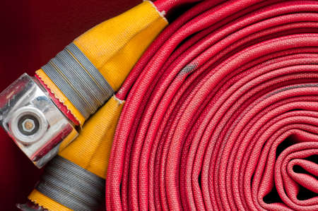 Red fire hose  photo