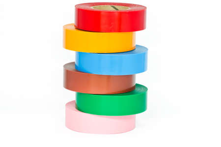 sellotape: insulation tape on white background  Stock Photo