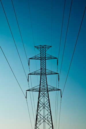 electric pillar and sky  Stock Photo