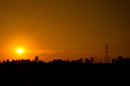Beautiful sunset on the field, Thailand Stock Photo - 15962249