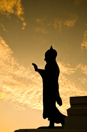 venerate: Big standing Buddha image at Phutthamonthon, Thailand Stock Photo