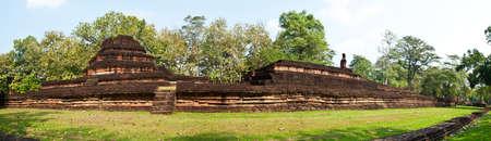 Old pagoda in historical park, Kamphaengphet province, Thailand   photo