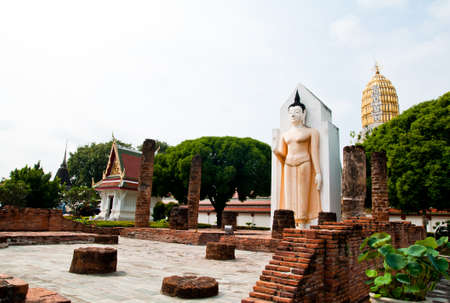 Wat Phar Sri Rattana Mahathat  Temple, Phitsanulok - North of Thailand Banque d'images