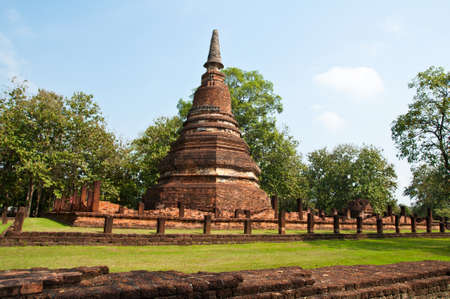 Old pagoda in historical park, Kamphaengphet province, Thailand  photo