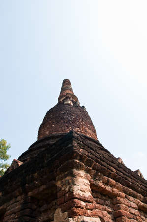 Old pagoda in historical park, Kamphaengphet province, Thailand  Stock Photo