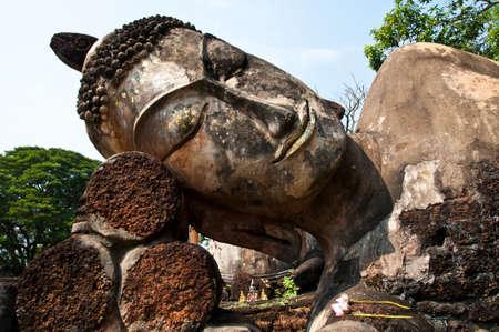 buddha statues in historical park, Kamphaengphet province, Thailand Stock Photo - 16760789