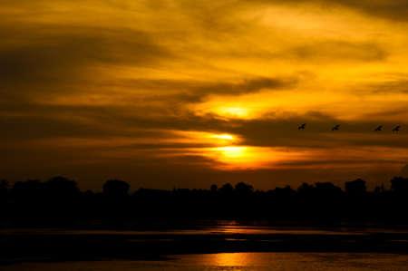 Beautiful sunset , Thailand Stock Photo - 16847913