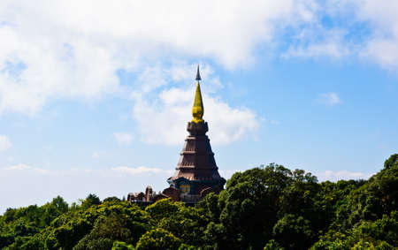 Stupa on Doi Inthanon  Chiang Mai, Thailand