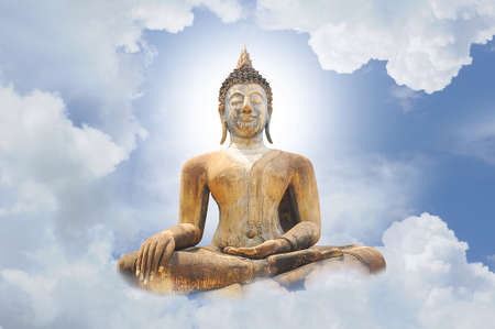 The Buddha status and blue sky