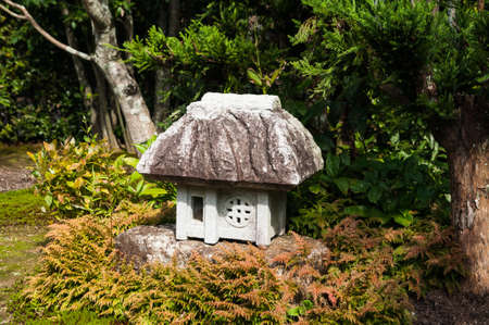 The lantern in Japanese garden. The lanterns in of Japanese temples