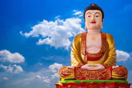 Buddha and blue sky
