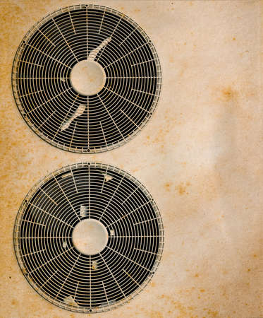 Old fan of air conditioners Banque d'images