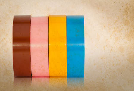 Color insulation tape old effect