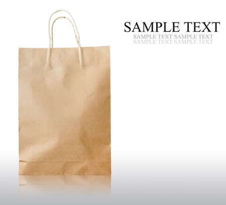Paper bag isolated on white background Banque d'images