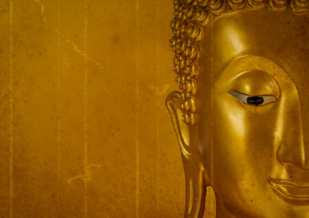 Buddha Face Old background Stock Photo